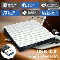 USB 3.0 External DVD CD Drive, Slim Portable External DVD/CD RW Burner Drive for , Notebook, Desktop, Mac Macbook Pro, Macbook Air and More