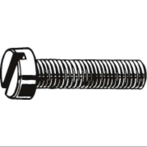 "FABORY #6-32 x 7/16"" Pan Head Slotted Machine Screw, 100 pk., U51120.013.0043"