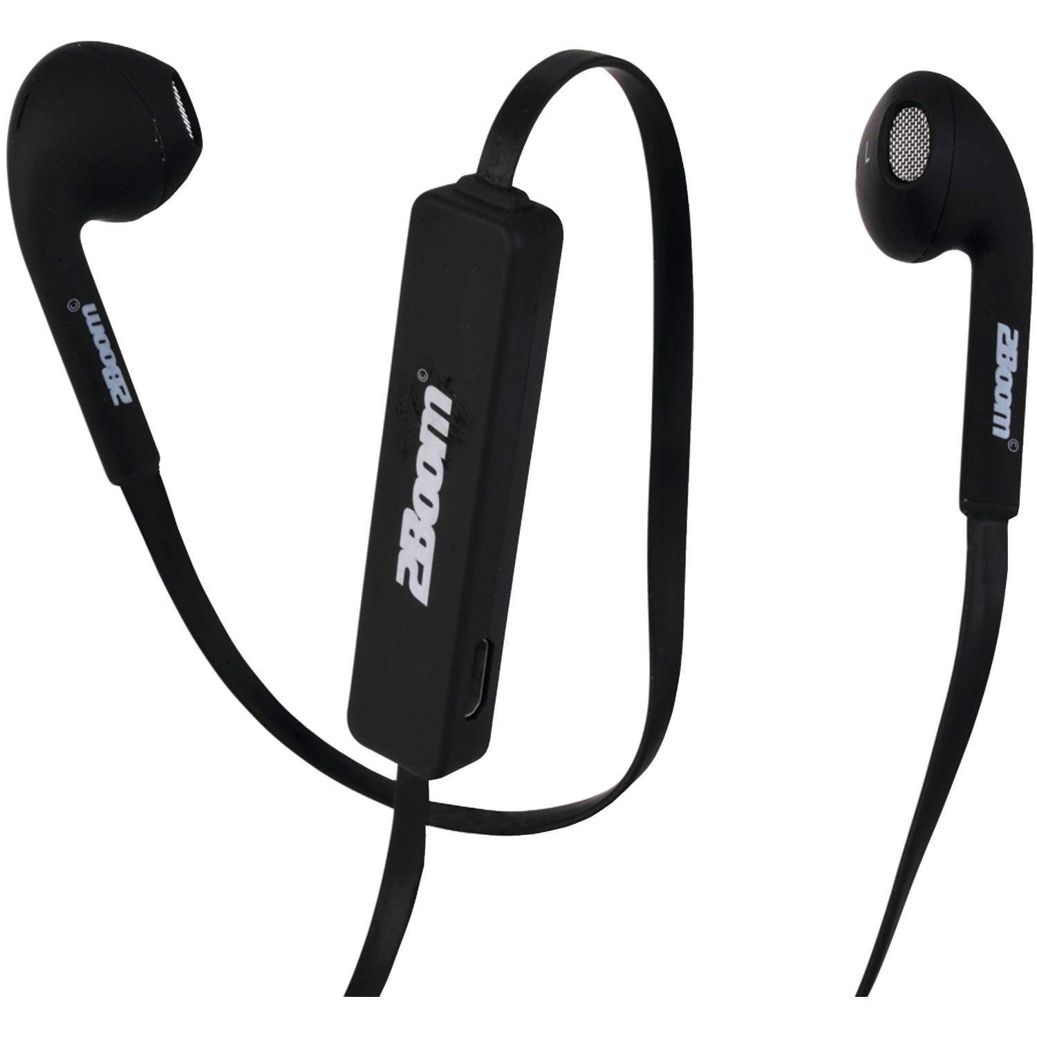 Image of 2Boom EPBT690K Bluetooth Noise-Canceling Earbuds with Microphone, Black