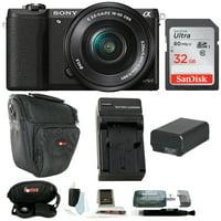 Sony Alpha a5100 ILCE5100L/B with 16-50mm Lens 24MP Mirrorless Interchangeable Lens Digital Camera (Black) 32GB Bundle