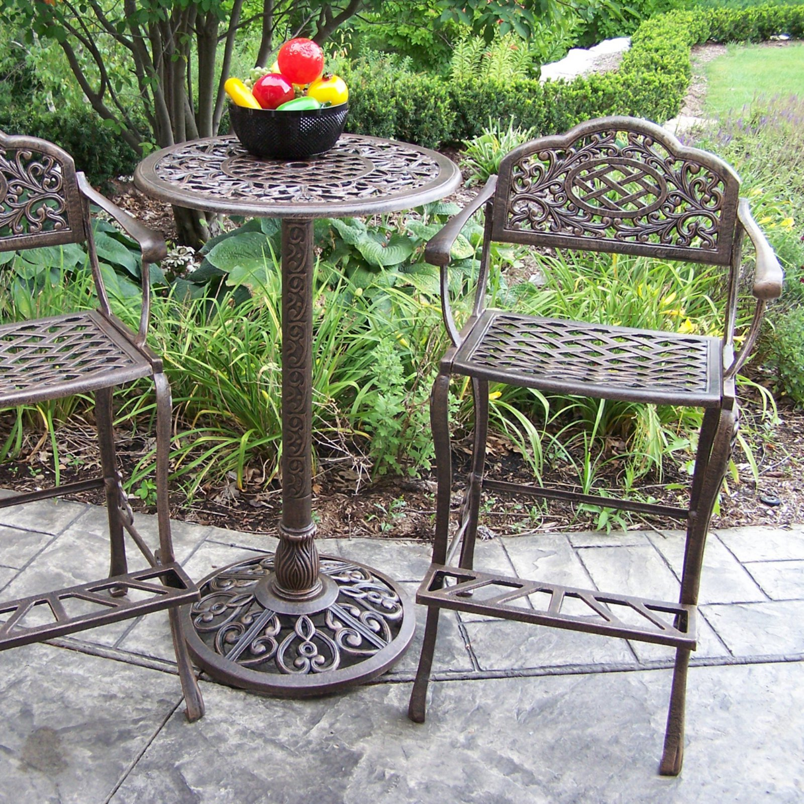 Oakland Living Mississippi 3 Piece Outdoor Pub Set