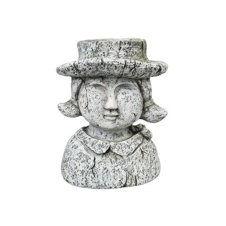 Art & Artifact Man And Woman Head Planters - Indoor/Outdoor Human Bust Flower Pots