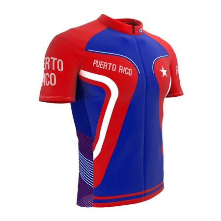 ad845b5553 ScudoPro - Puerto Rico Bike Short Sleeve Cycling Jersey for Men - Size 4XL  - Walmart.com