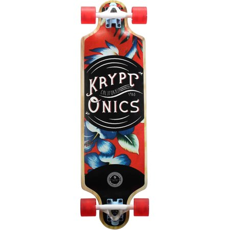 "Kryptonics Krypto 32"" Drop Down Longboard Hawaiian"