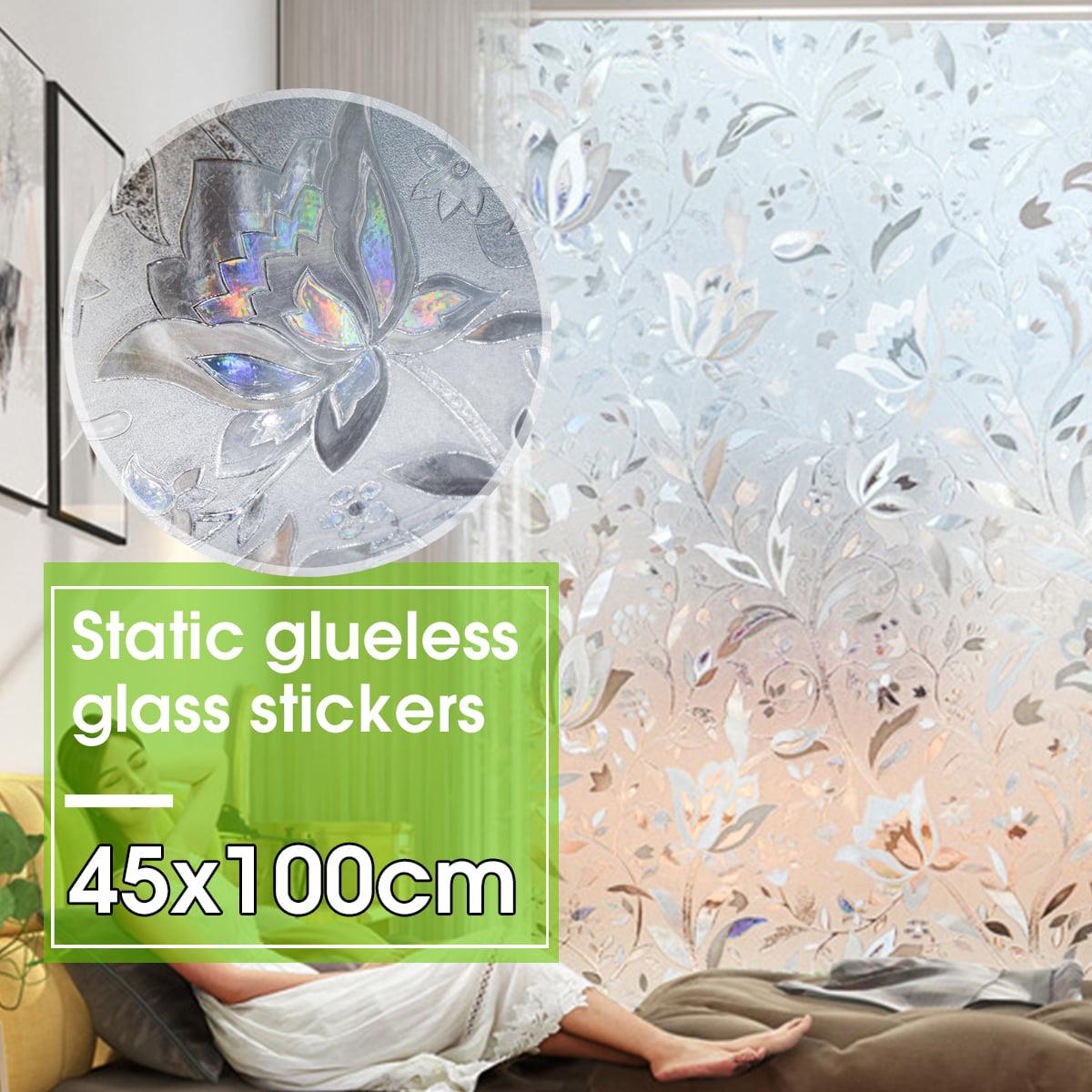 45x100cm Glueless Static Mosaic 3D Waterproof Glass Sticker Kitchen Home Decal