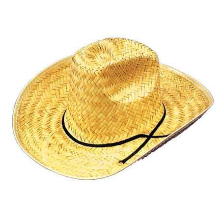 dbd9d18c2e9ba Costumes For All Occasions GC15 Cowboy Hat Straw 1 Size - image 1 of 1 ...