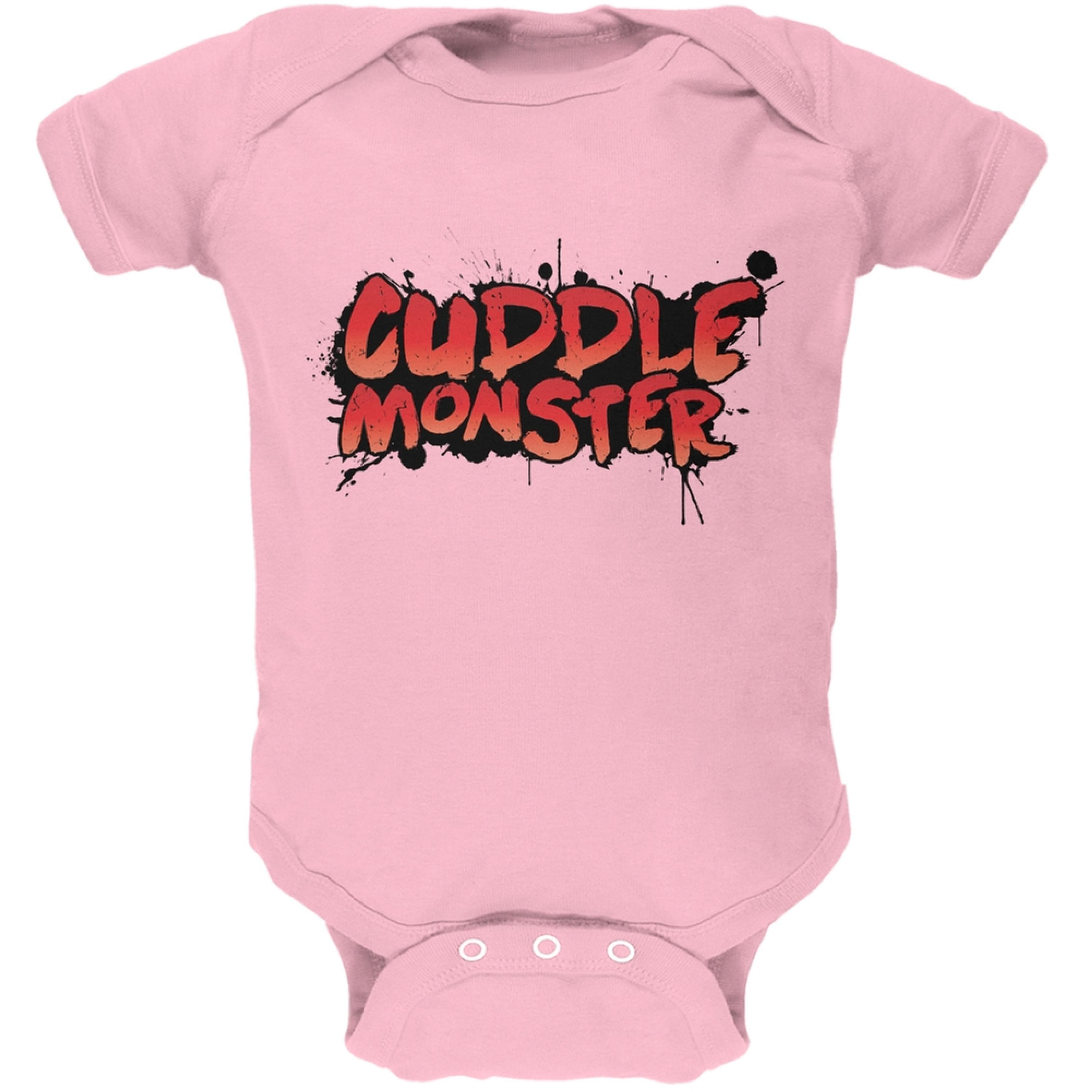 Cuddle Monster Light Pink Soft Baby One Piece