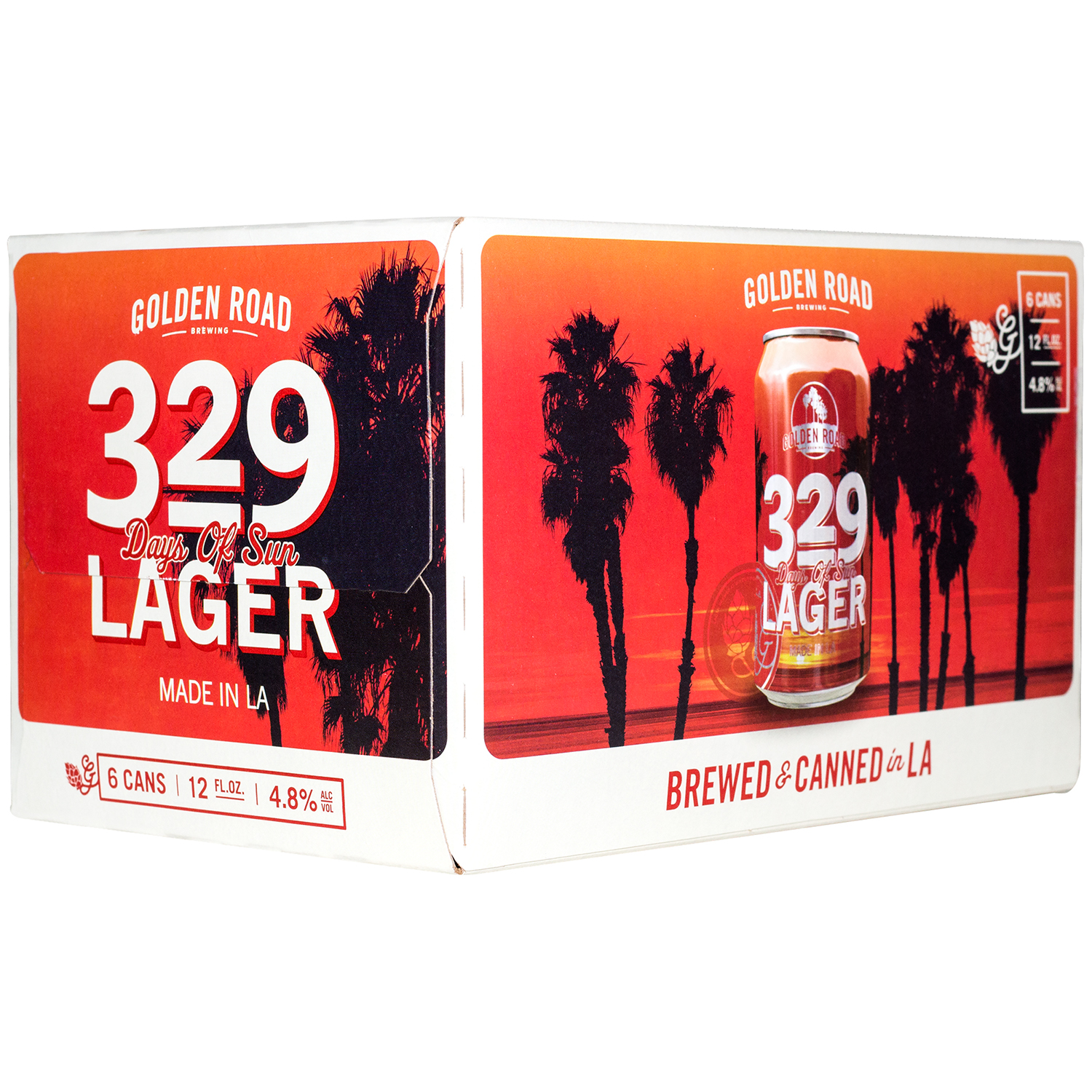 Image of Golden Road 329 Days of Sun Lager Beer, 6 pack, 12 fl oz