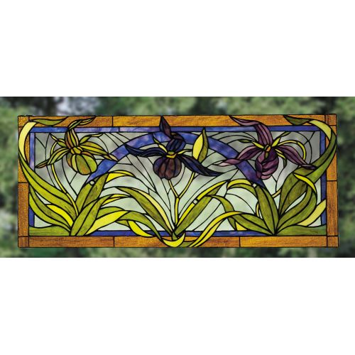 Meyda Tiffany 22928 Stained Glass Tiffany Window from the Woodland Flowers Collection