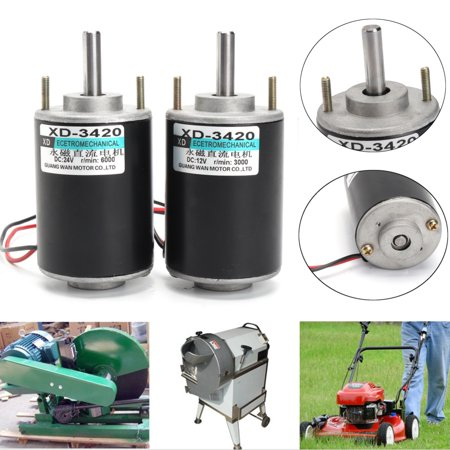 Moaere 12V/24V DC 30 High Torque Gear Box Electric Motor Speed Reduction  Electric Gearbox Centric Output Shaft