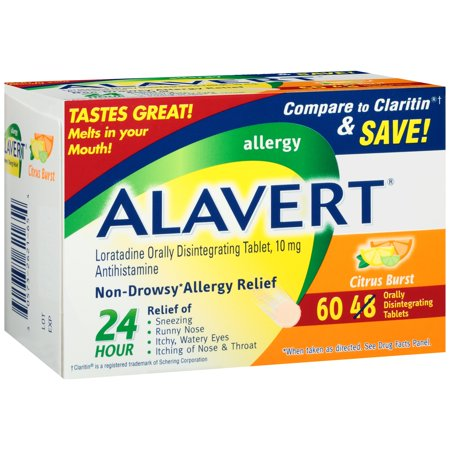 Image of Alavert Allergy Orally Disintegrating Tablets, 10mg, Citrus Burst, 60 ct