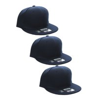 1a37d0b2c1b L.O.G.A Plain Flat Bill Visor Blank Snapback Hat Cap with Adjustable Snaps