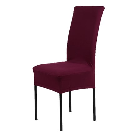 - Spandex Fabric Stretch Removable Dining Chair Cover Protector Slipcover Burgundy