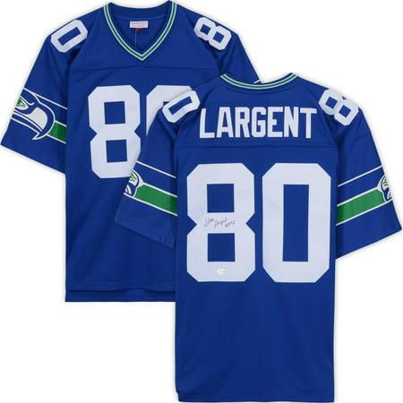 Hot Steve Largent Seattle Seahawks Autographed Blue Authentic Mitchell  hot sale