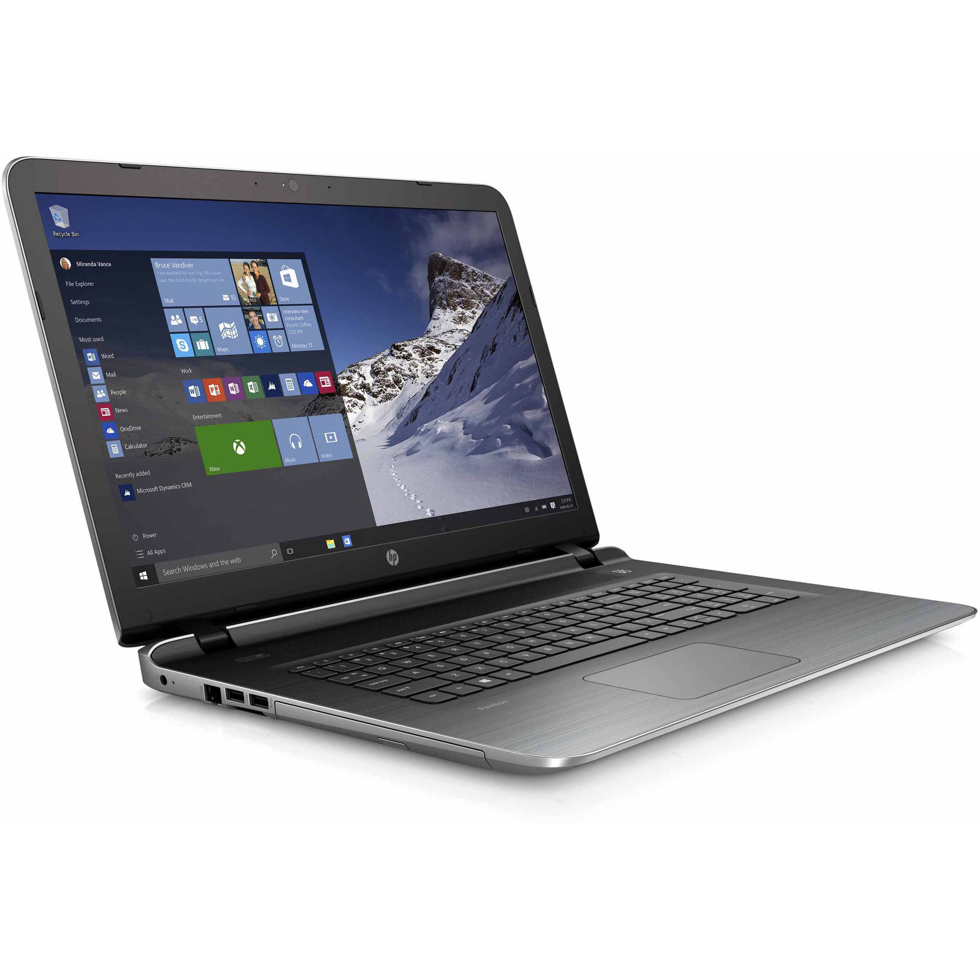 "HP Silver 17.3"" Pavilion 17-g121wm Laptop PC with AMD A10-8700P Processor, 8GB Memory, 1TB Hard Drive and Windows 10 Home"