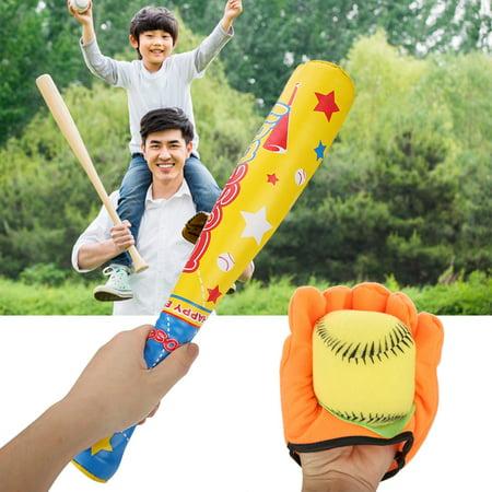 Ejoyous 4PCS Sports Baseball Toys Soft Baseball Bat Ball Glove Set for Kids Children Gifts, Soft Baseball Toy, Baseball Toy Set - image 1 of 8