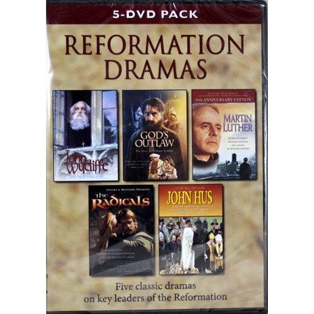 Reformation Dramas 5 DVD Pack NEW Wycliff, God's Outlaw, Luther, Radicals, (Best New Japanese Drama)
