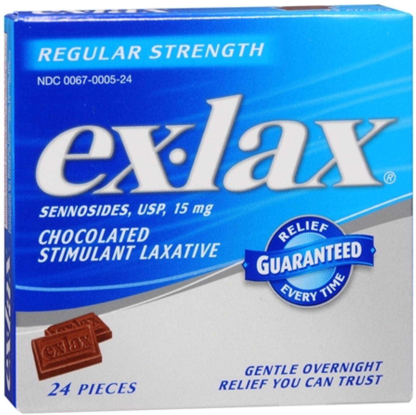 Ex-Lax Pieces Regular Strength 24 Each (Pack of 4)