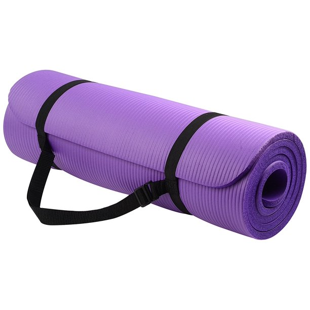 BalanceFrom GoYoga All-Purpose 1/2-Inch Extra Thick High Density Anti-Tear Exercise Yoga Mat with Carrying Strap - Walmart.com - Walmart.com