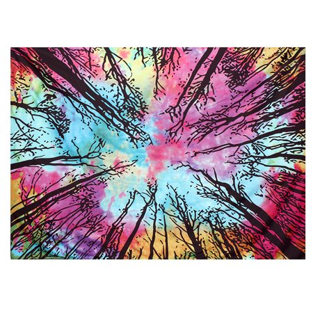 Meigar Mandala Tapestry Wall Hanging Tree Of Life Wall Hanging Tie Dye Wall Tapestry Hippie Indian Throw Beach College Dorm Bohemian Boho Bedsheet Home