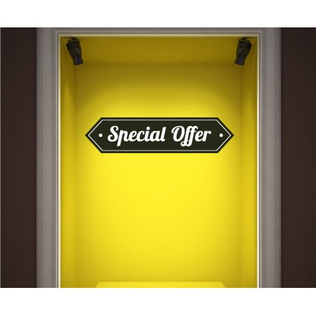 Special Offer Retail Discount Sign Wall Decal - Vinyl Decal - Car Decal - Idcolor026 - 25 Inches