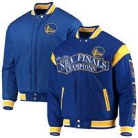 Golden State Warriors JH Design Commemorative Championship Reversible Jacket - Royal