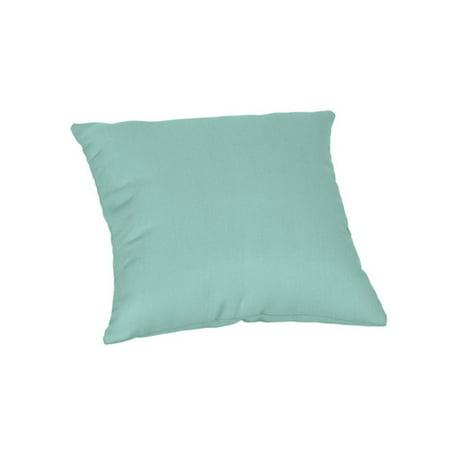 Sunbrella Square 18 in. Outdoor Throw Pillow - Spectrum Mist