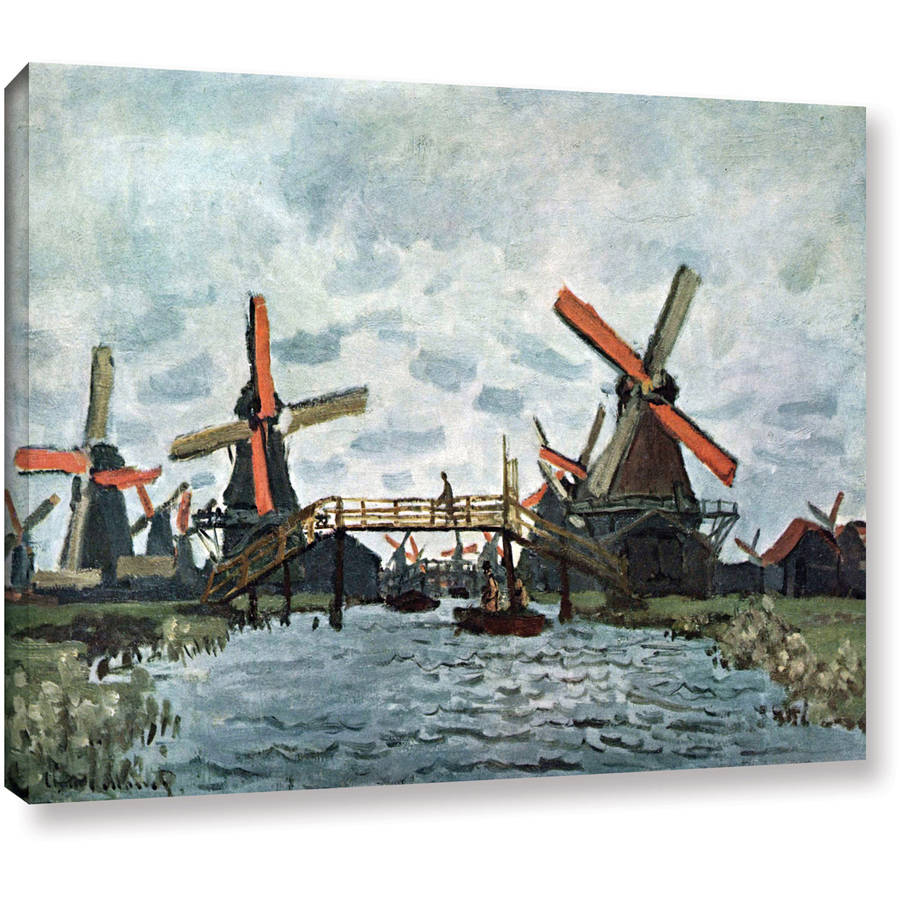 "Claude Monet ""Windmills"" Gallery-Wrapped Canvas"
