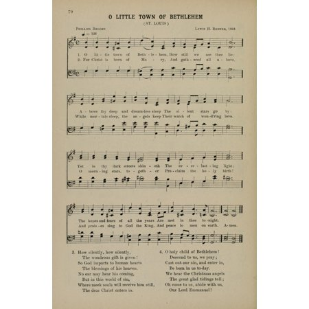O Little Town of Bethlehem Redner (d1908) & P Brooks (d1893) Christmas Carols 1910 Canvas Art -  (18 x 24)