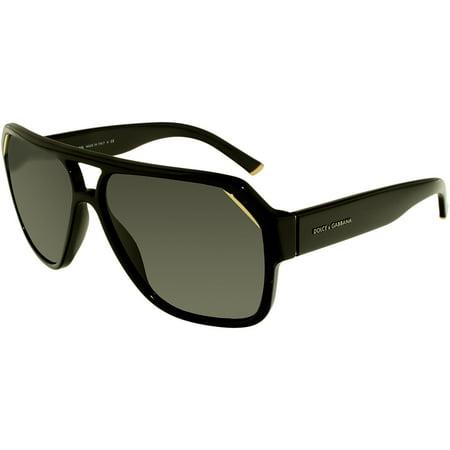 fe7af0debf89 Dolce & Gabbana - Men's DG4138-501/87-62 Black Oval Sunglasses - Walmart.com