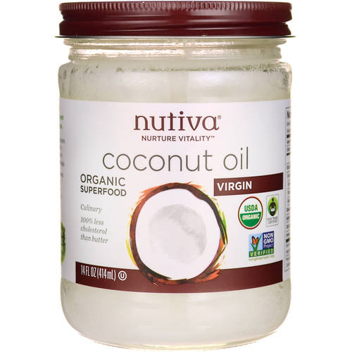 Nutiva Organic Extra Virgin Coconut Oil, 15 fl oz, (Pack of 2)