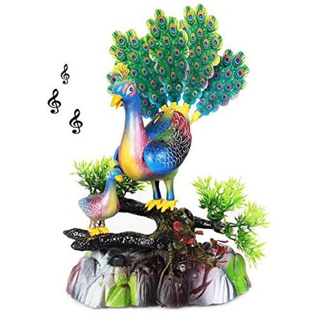 Crystal Peacock Bird - Singing and Dancing Peacock Party Favor Figurine | Decorative Party Centerpiece Dance and Song Bird for Festive Occasions | Birthdays | Graduations | Battery Operated Dazzling Toys Singing Bird.