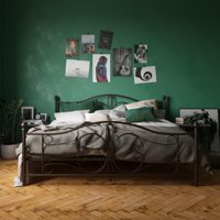 DHP Bombay Metal Bed, White - Twin