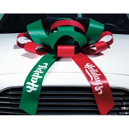 Giant Bows (CarBowz Big Red and Green Happy Holidays Car Bow, Giant 30