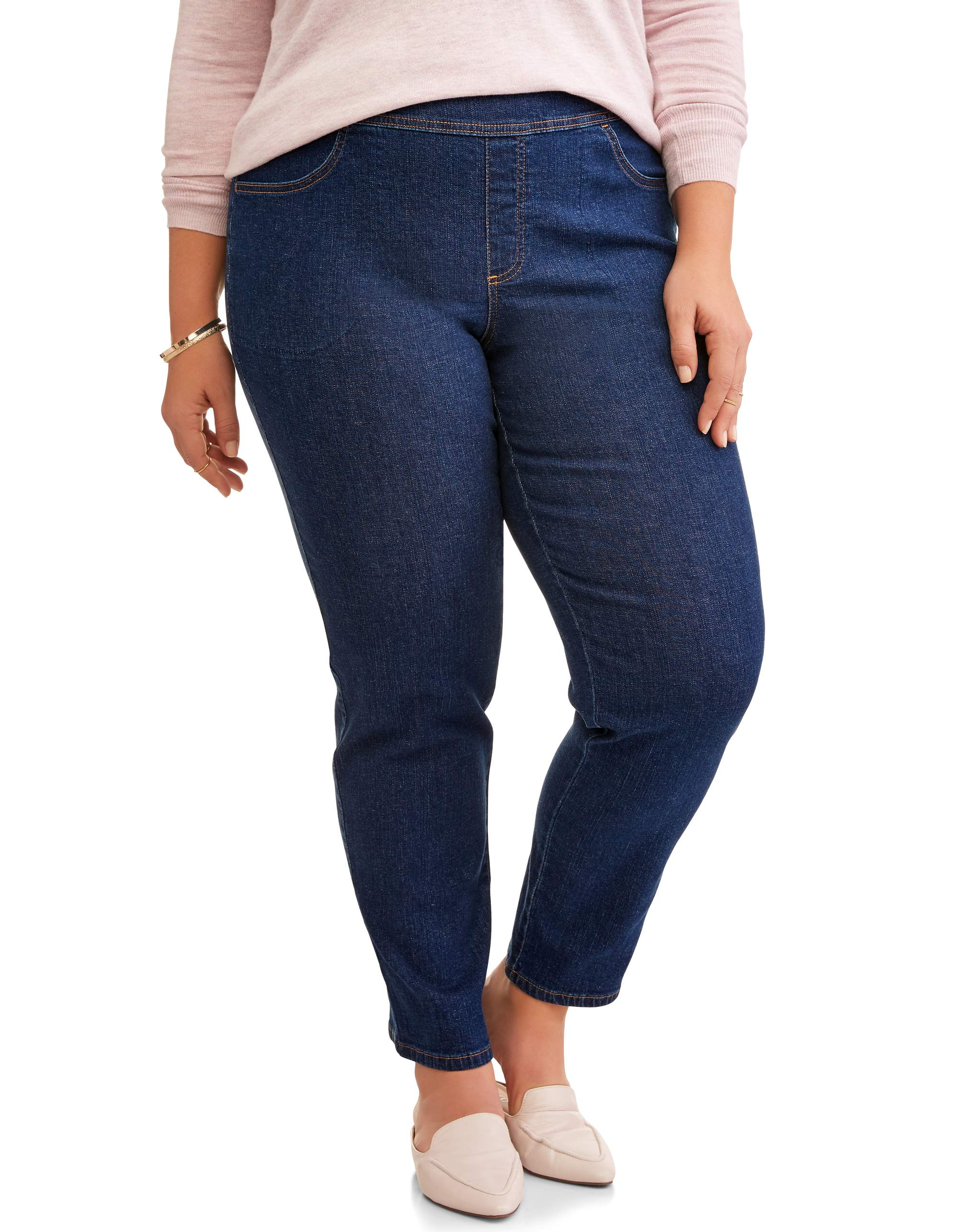Women's Plus Size 2 Pocket Pull On Pant, Also Available in Petite Sizes