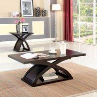 Furniture Of America Barkley Espresso 2 piece X base Accent Table Set