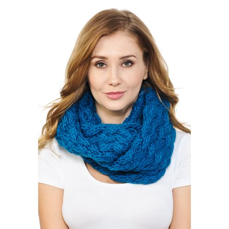 Basico Women Winter Chunky Knitted crochet Infinity Scarf Warm Circle -