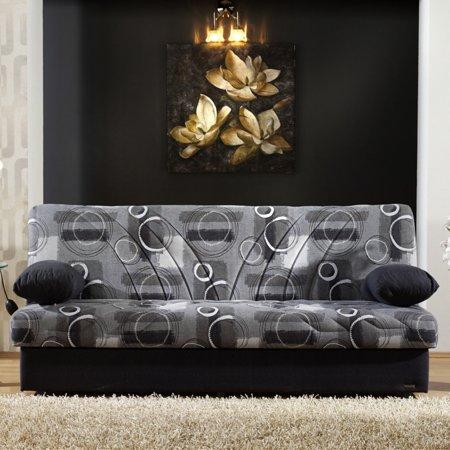 Fabulous Istikbal Max 3 Set Seam Gray Fabric Convertible Sofa With Black Accent Pillows Beatyapartments Chair Design Images Beatyapartmentscom
