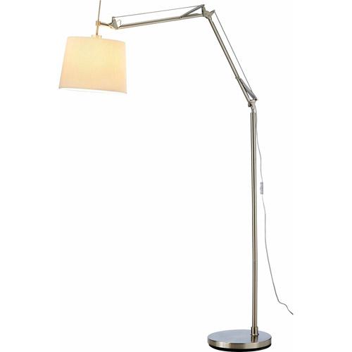 Adesso Architect Arc Lamp, Satin Steel