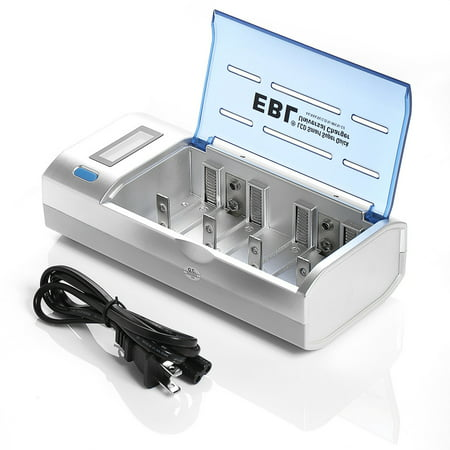 EBL LCD Display Battery Charger For AA AAA C D 9V Ni MH CD