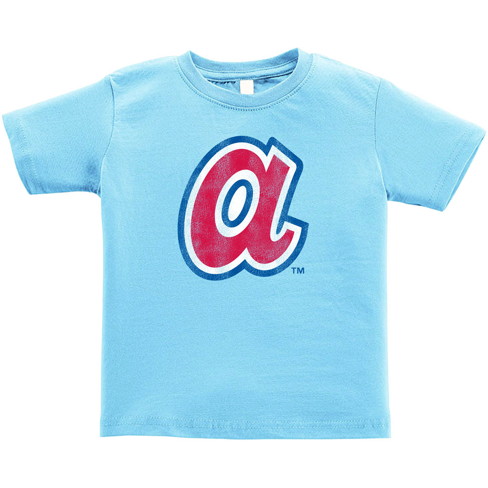 Atlanta Braves Soft as a Grape Cooperstown Collection T-Shirt - Light Blue