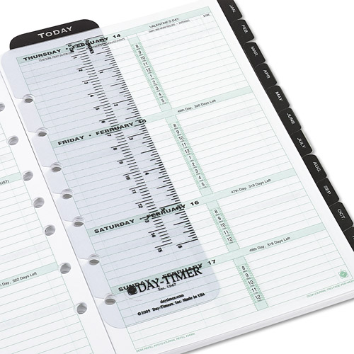 """Day-Timer Dated 2-Page-per-Week Organizer Refill, January-December, 5.5"""" x 8.5"""", 2014"""