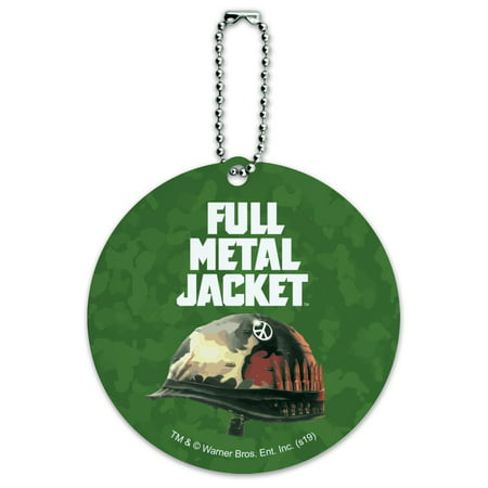 Full Metal Jacket Born to Kill Round Luggage ID Tag Card Suitcase