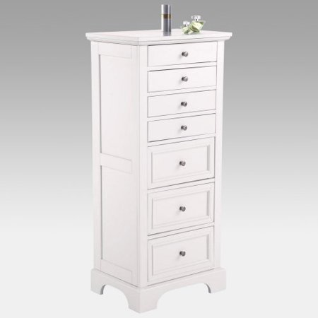 naples white lingerie jewelry armoire. Black Bedroom Furniture Sets. Home Design Ideas