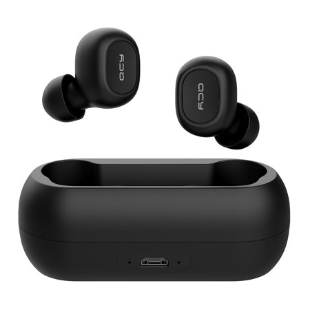 Xiaomi QCY T1C Bluetooth 5.0 TWS Earbuds True Wireless Headphones with Dual Mic In-ear Stereo Earphones Twins Sports Headset Charging Box Dual Electronics Consumer Headphones