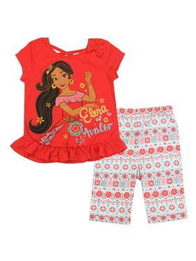 Elena of Avalor Disney Little Girls Bike Shorts Set, Sienna (4)