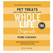 Whole Life Pet Originals 100% Chicken Freeze Dried Dog/Cat Treats 10 oz.