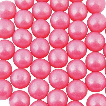 Fun Express - Shimmer Pink Medium Gumball (2 Lbs) - Edibles - Gum - Gumballs & Individually Wrapped - 165 Pieces (Pink Gumballs Bulk)