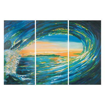 (Safavieh Blue Grotto Triptych Wall Art)