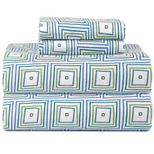 Celeste Home Celeste Home Ultra Soft Flannel Matrix Cotton Sheet Set
